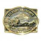 El Paso Del Norte Jackass Mail Heritage Brass Vintage Belt Buckle