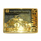 Hummer LTV Aerospace Defense BTS Solid Brass Belt Buckle