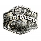 South Dakota Seal Vintage Pewter Belt Buckle