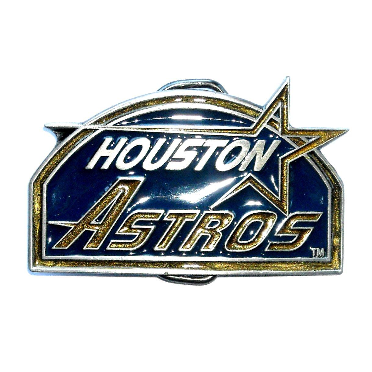 Houston Astros MLB Baseball Vintage Great American US Pewter Belt Buckle