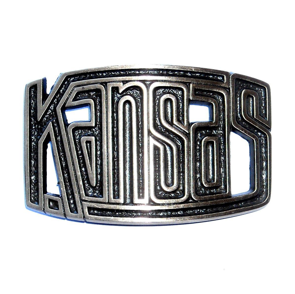 Kansas State 3D Cutout High Mesa Solid Bronze Belt Buckle
