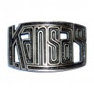 Kansas State 3D Cutout High Mesa Solid Bronze Belt Buckle