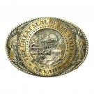 Tony Lama Nevada State Series Solid Brass Belt Buckle
