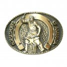 Horseshoers Of America Award Design Solid Brass Belt Buckle