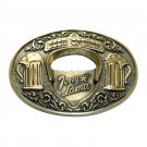 Beer Opener Vintage Tony Lama Solid Brass US Belt Buckle