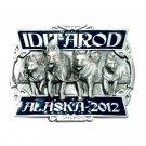 Iditarod Race Alaska 2012 Color Siskiyou Solid Pewter Belt Buckle