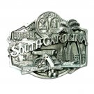 South Carolina Palmetto State Seal Siskiyou Pewter Belt Buckle