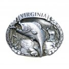Virginia CJ 1986 Solid Pewter Belt Buckle