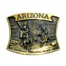 Arizona Heritage Mint Solid Brass Vintage Belt Buckle