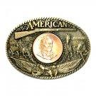 Great American John Wayne ADM Brass Belt Buckle