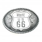 Route US 66 Colorado Silver Star Solid Pewter Belt Buckle