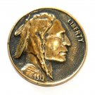 Indian Head Heritage Mint Solid Brass Vintage Belt Buckle