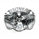HCWA Hesston Corp Workers Union Vintage Bergamot US Pewter Belt Buckle