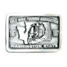Gold Wing Touring Washington State Bergamot Pewter Belt Buckle