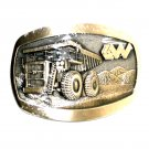 Wiseda Heavy Mining Truck Award Design Solid Brass Belt Buckle