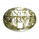 Kansas Seal Award Design ADM Brass Belt Buckle