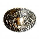 US Marine Corps Award Design ADM Solid Brass Belt Buckle