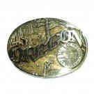 Oregon Seal ADM Award Design Solid Brass Belt Buckle