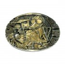 Snow Bird Vintage ADM Solid Brass Belt Buckle