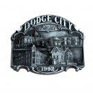 Dodge City Kansas 1992 Vintage Bergamot Pewter US Belt Buckle