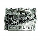 Dodge City Kansas 1985 Vintage Bergamot 3D Pewter Belt Buckle