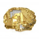 Backbone Of America Vintage ADM Brass Gold Plated Belt Buckle