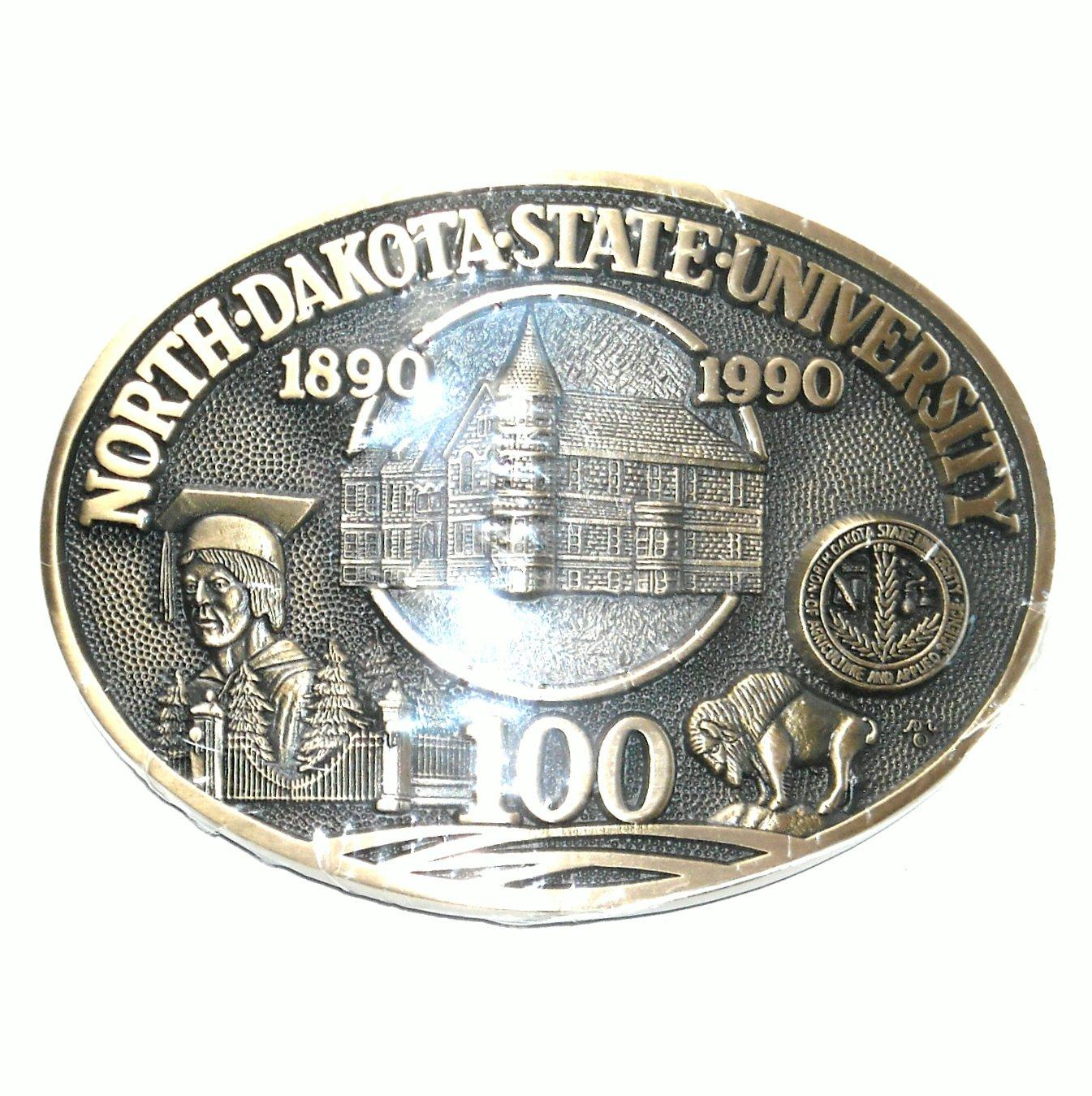 North Dakota State University ADM Limited Edition Solid Brass Belt Buckle