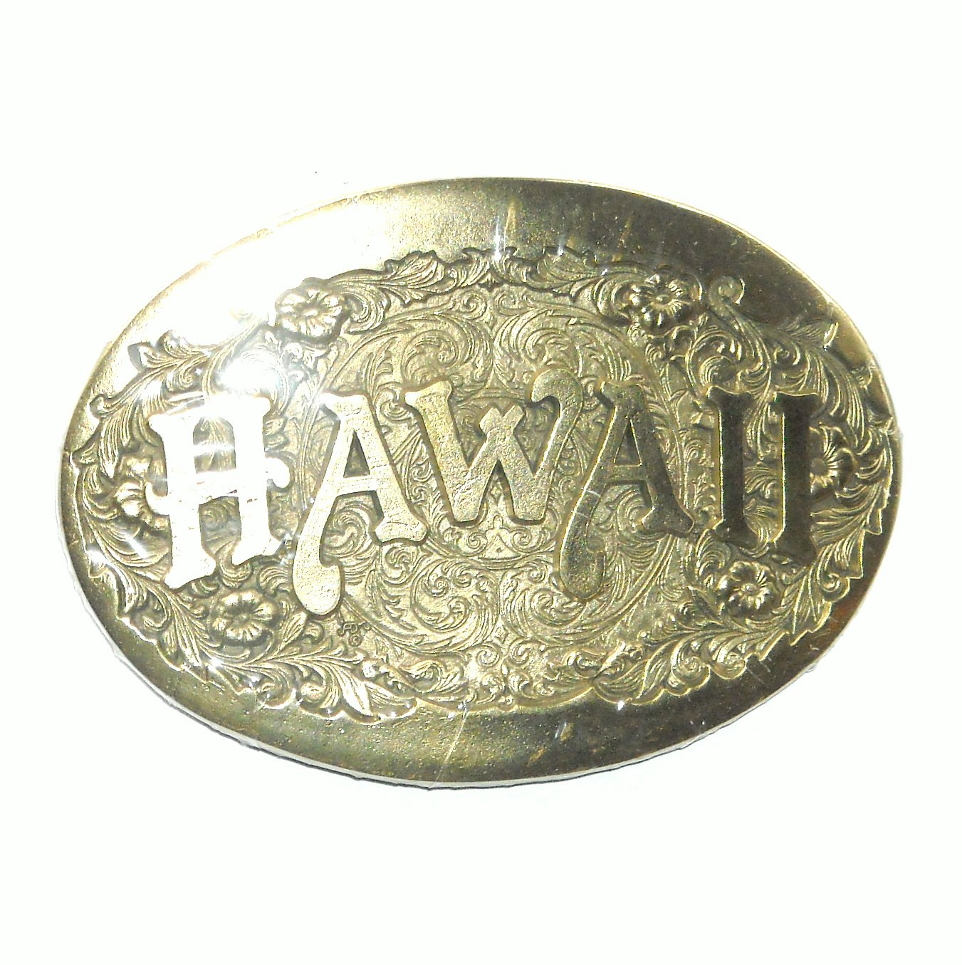 Hawaii Award Design ADM US Solid Brass Belt Buckle