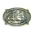 Star Clipper Ships San Francisco BTS Brass Vintage Belt Buckle