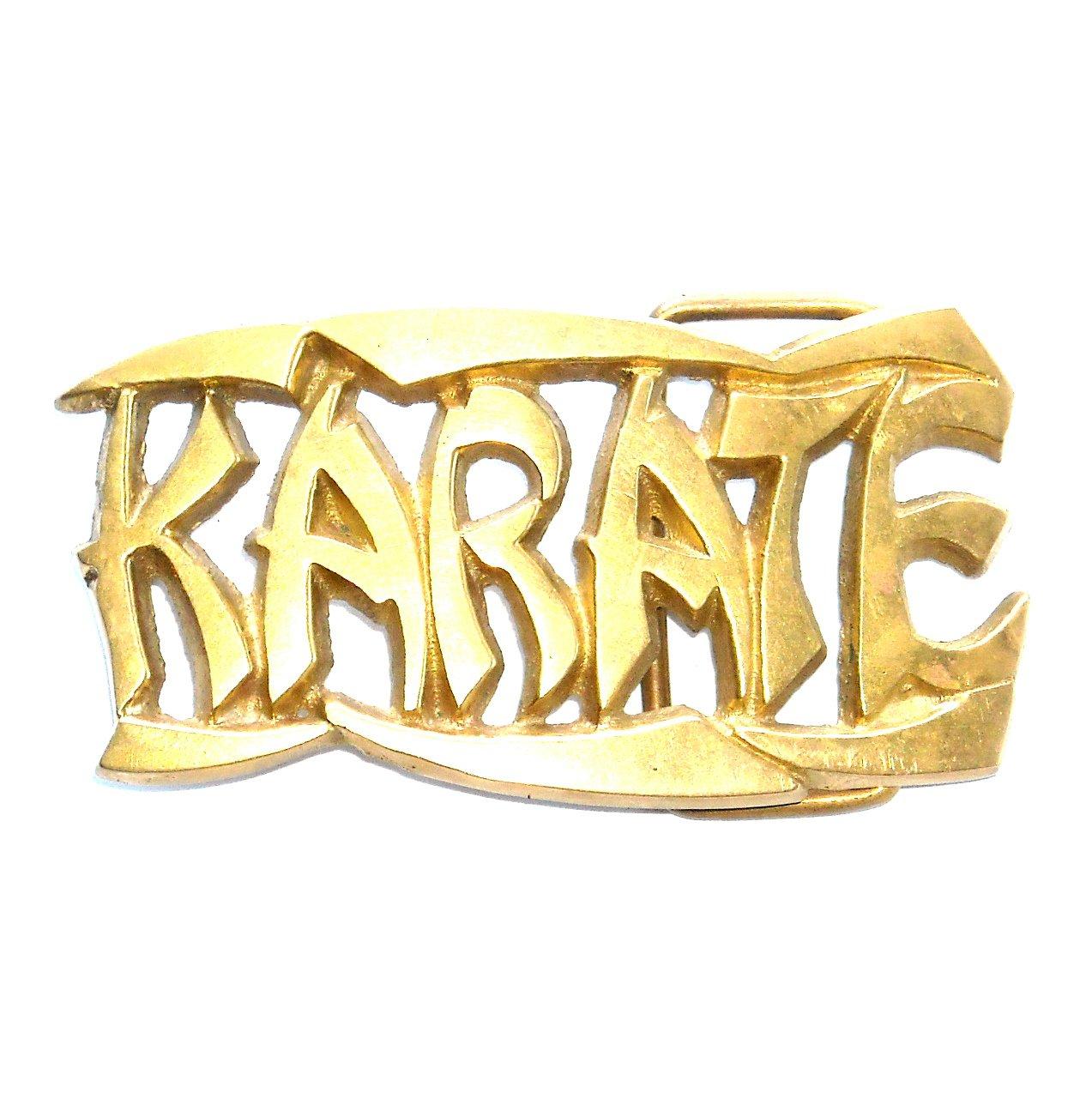 Karate 3D Baron Solid Brass Vintage Belt Buckle