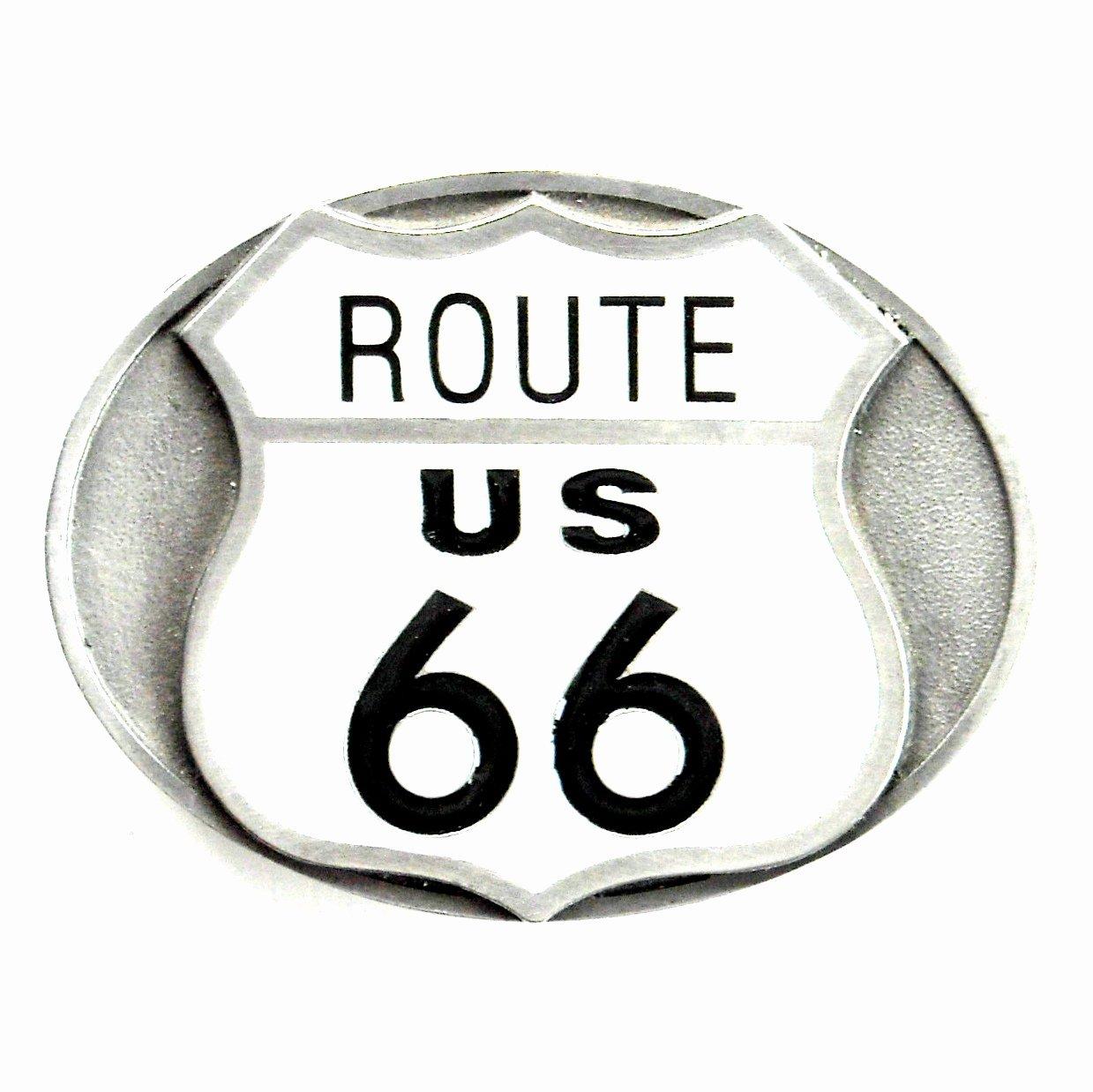 Route 66 US Siskiyou Oregon Pewter Belt Buckle