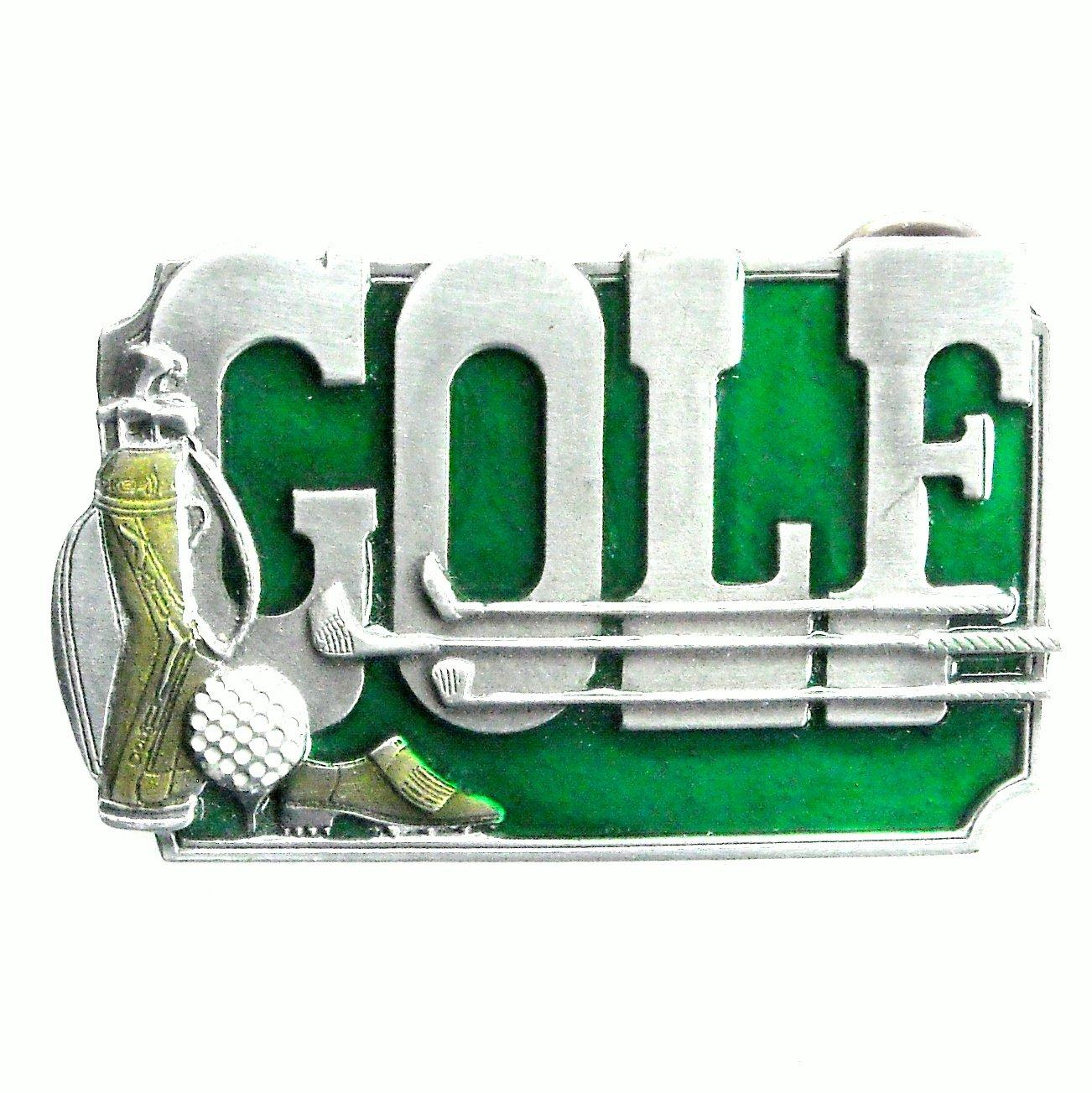 Golf Siskiyou Oregon Vintage Pewter Belt Buckle