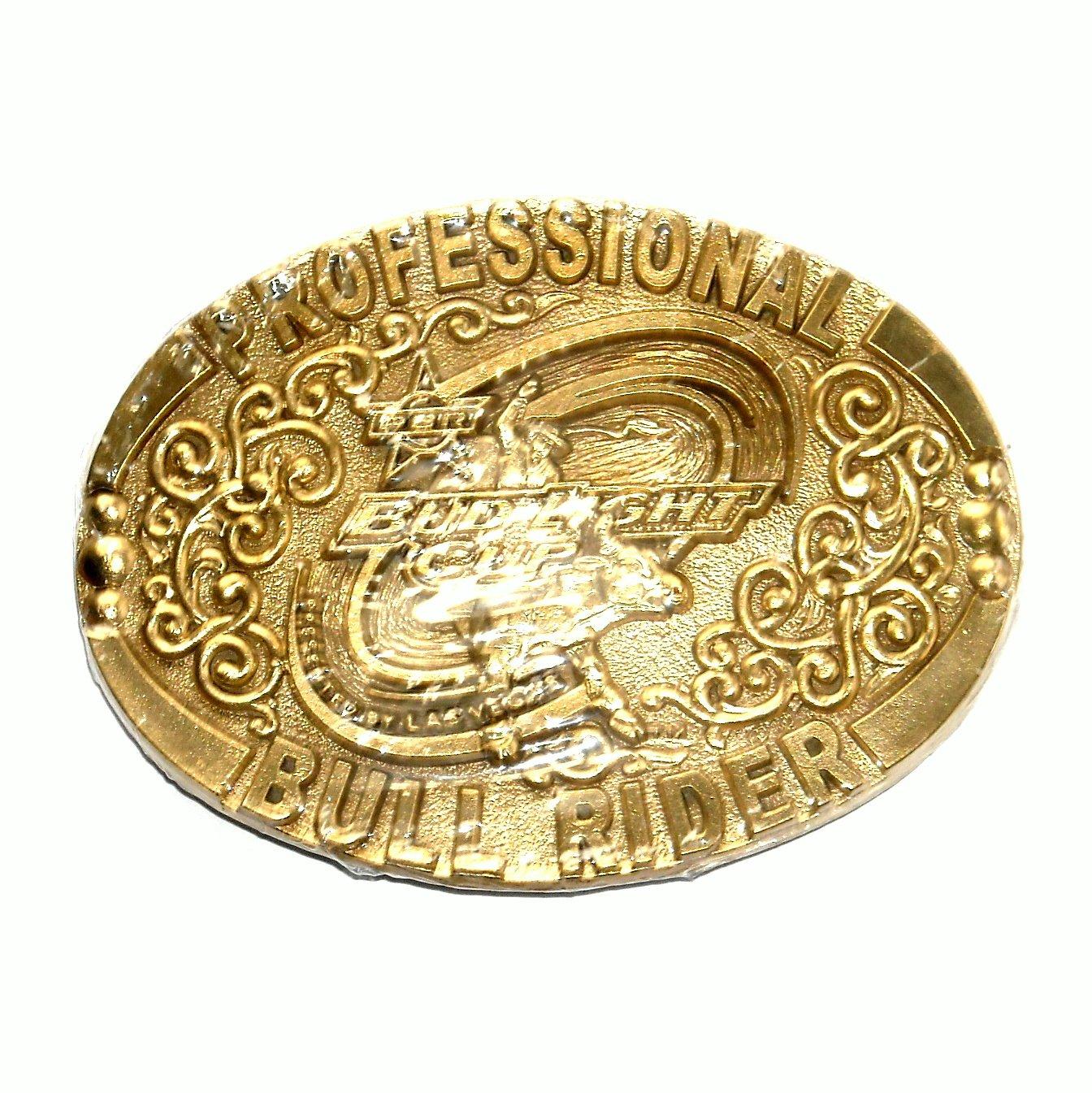 Professional Bull Rider ADM Solid Brass Belt Buckle