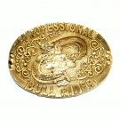 Professional Bull Rider ADM Solid Brass Belt Buckle