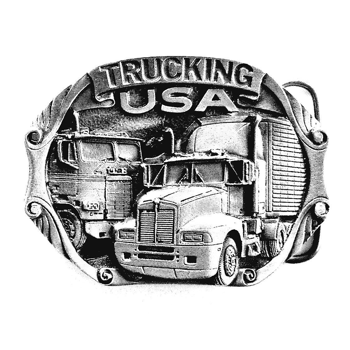 Trucking USA C&J Bergamot 1988 Solid Pewter Belt Buckle