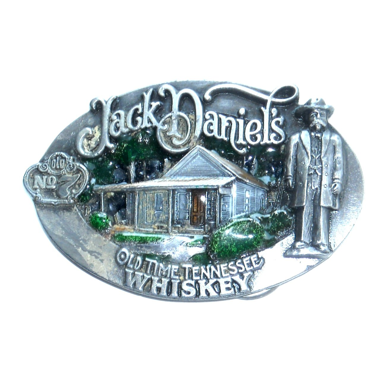 Jack Daniels No 7 Old Time Tennessee Whiskey Vintage Bergamot Belt Buckle