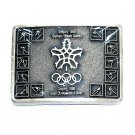 Calgary Olympic Winter Games 1988 Award Design Solid Brass Belt Buckle