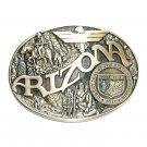 Arizona State Seal Vintage ADM Brass Belt Buckle