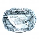 United States Constitution We The People Bergamot Pewter US Belt Buckle