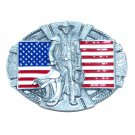 American Cowboy Bergamot Pewter US Belt Buckle