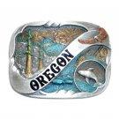 Oregon Color Vintage Bergamot Pewter US Belt Buckle