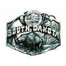South Dakota Mount Rushmore State Seal Siskiyou Pewter Belt Buckle