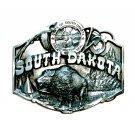 South Dakota Mount Rushmore State Seal Siskiyou Pewter Belt Buckle