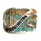 Washington Vintage Bergamot Color US Belt Buckle