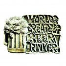 Worlds Greatest Beer Drinker C&J Pewter US Belt Buckle