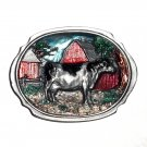 Holsteins Dairy Cow Vintage C&J Color Bergamot Pewter US Belt Buckle