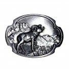 Bighorn Sheep 3D Vintage Siskiyou Bergamot Pewter US Belt Buckle