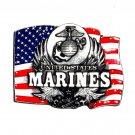 United States Marines USMC Colors Bergamot Pewter US Belt Buckle
