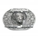 Remington 3D Bergamot Pewter US Belt Buckle