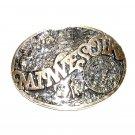 Minnesota State Seal ADM First Edition Award Design Brass Belt Buckle